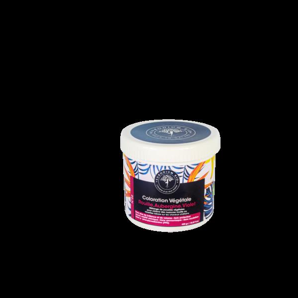 Coloration végétale n02 rouille aubergine et violet