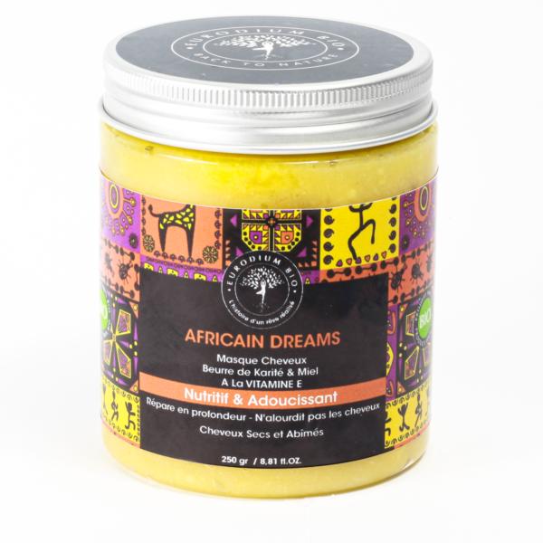 AFRICAIN DREAMS Masque Cheveux Beurre de Karité & Miel  A La VITAMINE E